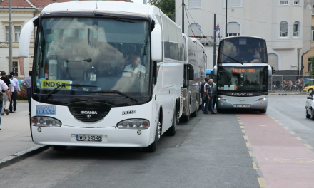 Buszblokád a Városligetben